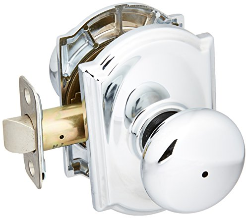- Schlage Lock Company F40PLY625CAM Polished Brass Privacy Siena Door Knobset with The Decorative Wakefield Rose