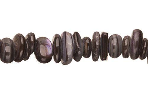 Pearl Black Mother-Of-Pearl Nacre Nuggets Shell Beads Size:9x7mm