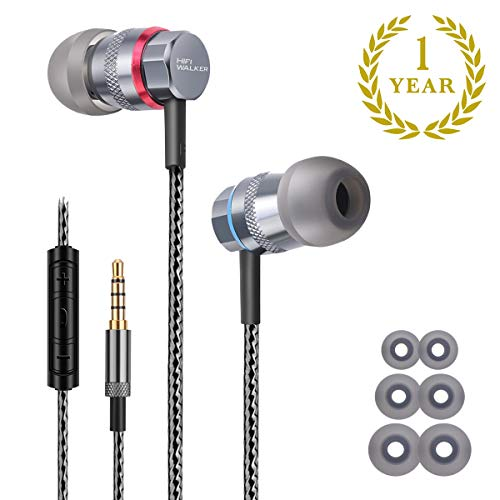 - HIFI WALKER Dynamic Driver in-Ear Earphones Hi-Res Headphones with High Resolution, Bass Driven Sound, MEMS Mic, in-Line Remote, High Fidelity for Smartphones/PC/Tablet - Updated