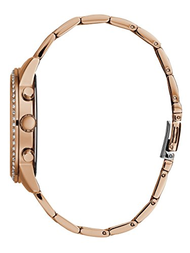 Casual Guess Stainless Women's Gold Steel WatchColorRose Crystal DIH9W2E