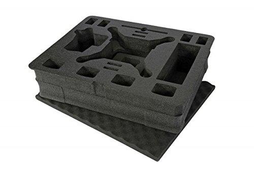 NanukカスタマイズFoam挿入ケース945 – DJI Phantom 4、ブラック、Large、945-foamdji4   B07C456XYF
