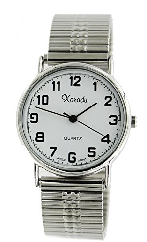 Xanadu Men's Classic Stretch Band Silver Tone Watch for sale  Delivered anywhere in USA