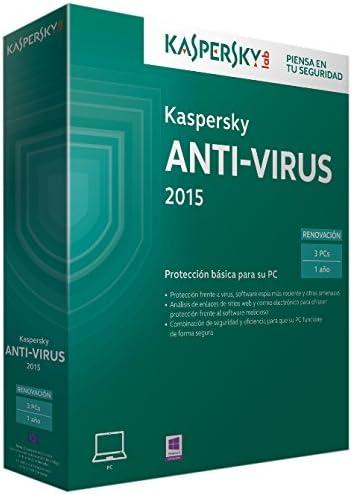 Kaspersky Lab Anti-Virus 2015, UPG, 3U 3usuario(s) - Seguridad y antivirus (UPG, 3U, 3): Amazon.es: Software