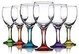 Carnival Color, Wine Glass 10 OZ, Set of 6 – 10 OZ