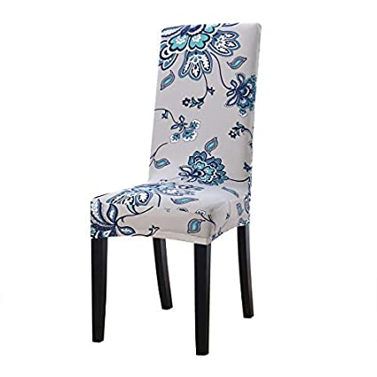 uxcell Dining Chair Cover,Stretch Bar Stool Slipcover Kitchen Chair  Protector Spandex Pattern Chair Seat Cover for Home Decorative/Dining ...