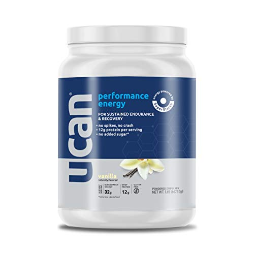 UCAN Performance Energy + Protein Powder (Vanilla, 26.5oz, 30 servings) - Whey Protein, Gluten Free, No Sugar Added