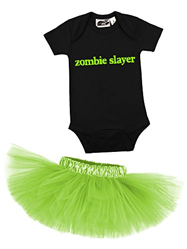 Zombie Slayer One Piece & Lime Green Classic Tutu Set (18 Months)