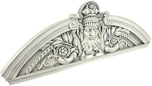 Design Toscano Prometheus The Rebel Titan Sculptural Wall Pediment Set of 2