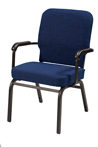 KFI Seating Big and Tall  Guest Chair, Commercial Grade, Navy Fabric, Made in the USA