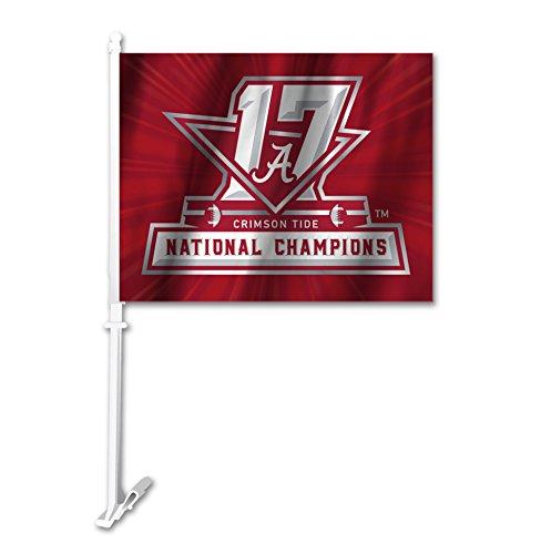 National Champions Car Flag - NCAA Alabama Crimson Tide 2018 College Football National Champions Car Flag