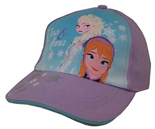 Disney Frozen Girls Purple Anna and Elsa Cotton Baseball Cap [6012]