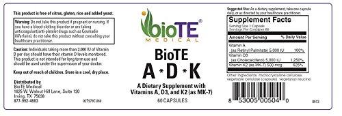 BioTE Medical - A•D•K2, 60 Caps