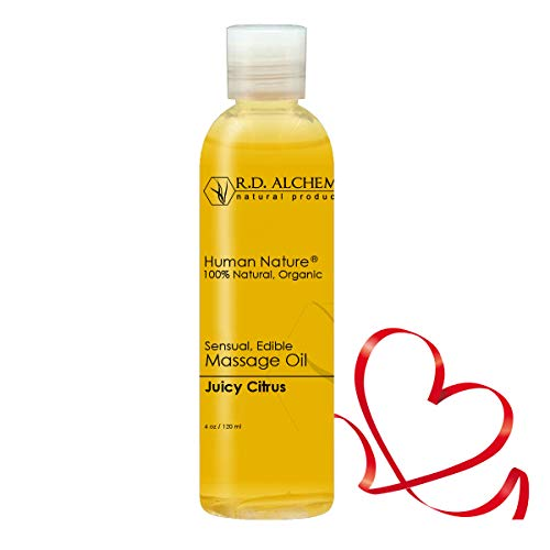 Kama Sutra Gift Basket - 100% Natural & Organic, Edible Massage Oil for Body. Essential Oils Perfect for Couples. Erotic Flavor: Juicy Citrus - Sends The Right Message.