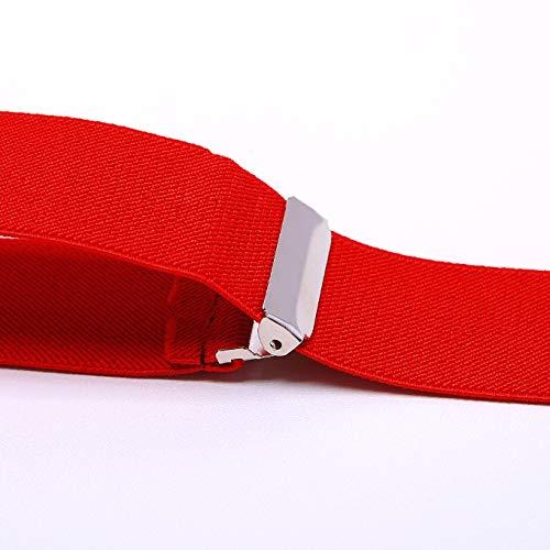 KANGDAI Robusto Uomini Braces 6 Fibbie Y Indietro 10 colori Suspendenti regolabili elastici durevoli Forti clip metalliche