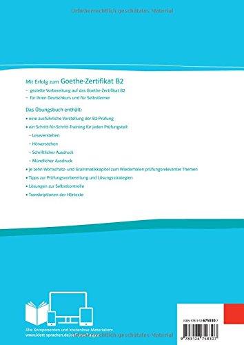 Mit Erfolg Zum Goethe Zertifikat B2 übungsbuch übungsbuch Audio
