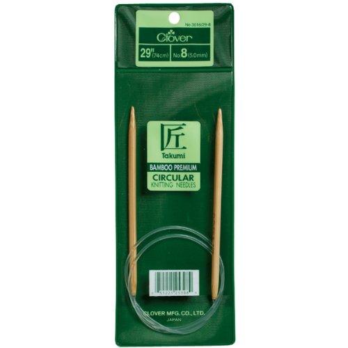 - Clover Takumi Bamboo Circular 29-Inch Knitting Needles, Size 4 (3016/29-04)