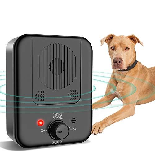 SMICHO Upgraded Bark Control Device, Sonic Barking Control Bark Controller Range of 50 Ft Waterproof, Outdoor Sonic Bark…