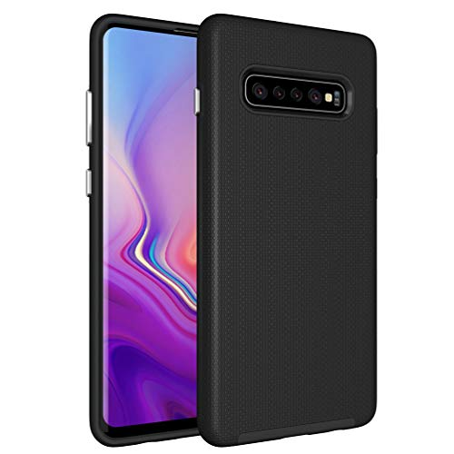 Price comparison product image Galaxy S10 Plus Case, Samsung S10 Plus Hybrid Defender Armor Case, Dual Layer Protective Phone Case, Full Body Rugged Case, Non-slip Drop Protection Shock Proof Case for Samsung Galaxy S10 Plus Black
