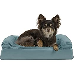 FurHaven Pet Dog Bed | Orthopedic Ultra Plush Sofa-Style Couch Pet Bed for Dogs & Cats, Deep Pool, Small