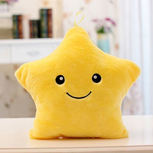 Colorful Beautiful Bling Star Shaped Glowing LED Pillow Cush
