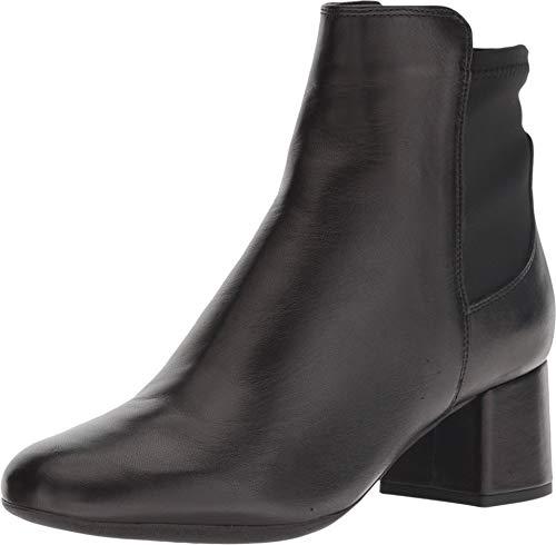The FLEXX Women's Block Party Boot, Black Portofino/Stretch, 7 M US (Portofino Shoes)