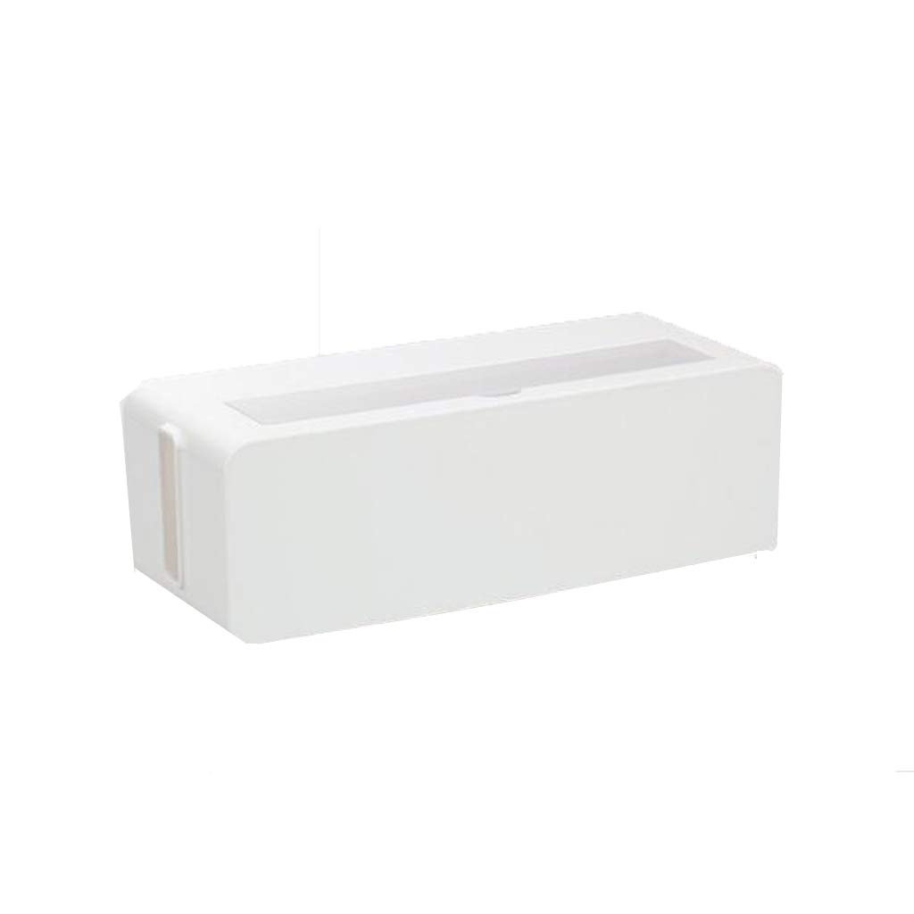 BAYUESHOP Paper Clip Holders Socket Storage Box, Cable Box, Wire Storage Box, Socket Storage Box, Junction Box, Wire Management Box Black, White Size: 39cmx15.6cmx12.9cm (Color : White) by BAYUESHOP//Office Products