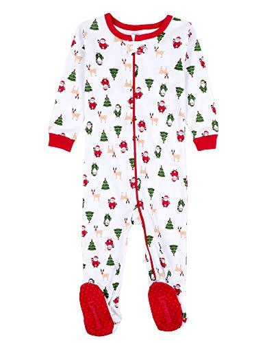 cbc65e1e2 Leveret Baby Boys Girls Christmas Footed Pajamas Sleeper 100% Cotton ...