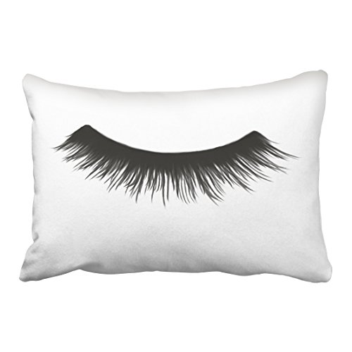 Tarolo Decorative False Eyelash Throw Pillow Case Shell Decorative Pillowcase Size 20x30 inches(51x76cm) One (Wild Lash Sparkles)