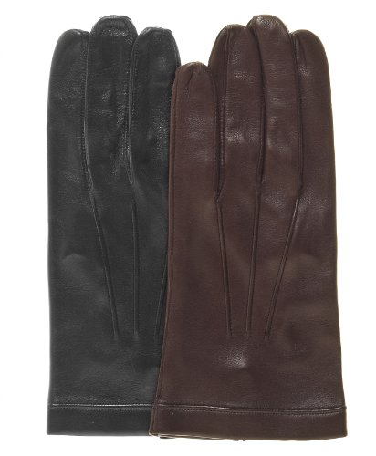 Fratelli Orsini Men's Italian Unlined Leather Gloves Size 10 Color Black