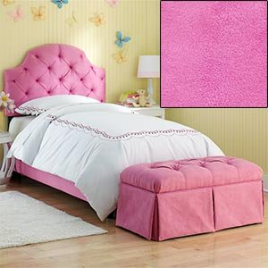 Amazon Com Hot Pink Tufted Full Bed With Bench