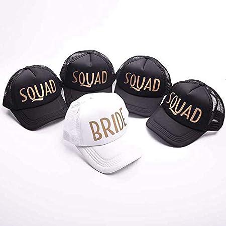 JOYKK Baseball Mesh Cap Team Bride Squad Chapeau R/églable Dr/ôle Hommes Femmes F/ête De Mariage B # Mari/ée Noir