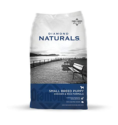 Diamond Naturals Small Breed Puppy Real Meat Recipe Natural Dry Dog Food with Real Cage Free Chicken, 18lb