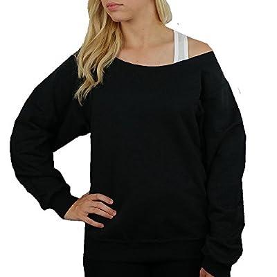 Cheer Mom Sweatshirt Off Shoulder - 562 Black - BD947 (Pick Your Glitter Color)