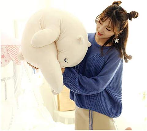 43.3 inch Super Soft Plush Polar Bear Stuffed Animal Toy Plush Soft Hugging Animal Pillow 13.8?,Beige PP Cotton