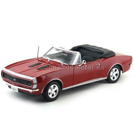 Maisto Die Cast 1:18 Scale Red 1967 Chevrolet Camaro SS 396 convertible