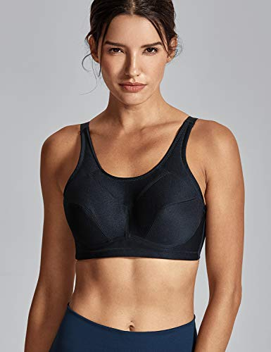 8a1774b810 SYROKAN Women s Bounce Control Wirefree High Impact Full Figure Support  Sports Bra