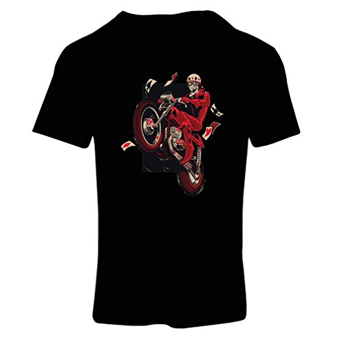 T Shirts for Women Motorcyclist - Motorcycle Clothing, Vintage Designs Retro Clothing (XX-Large Black Multi Color)