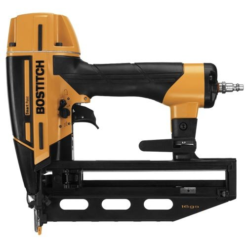 BOSTITCH Finish Nailer Kit, 16GA, Smart Point covid 19 (16 Gauge Nail Gun coronavirus)