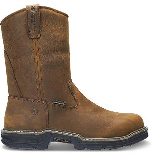 Wolverine Men's Marauder Rubber Wellington-M, Brown, 13 XW US