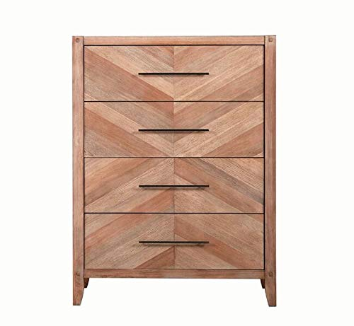 Black Chest Drawer Finish (Scott Living Auburn White Washed Natural Finish Chest with 4 Drawer)