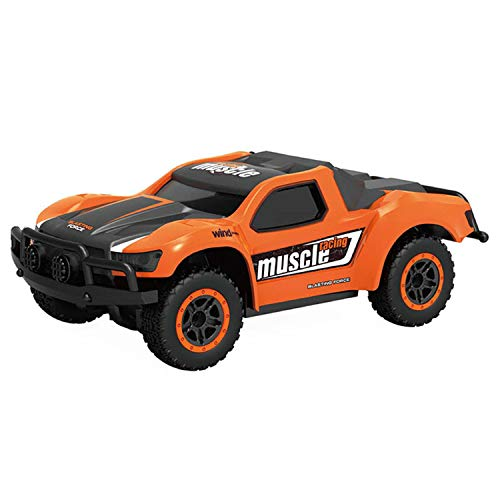 Chilartalent Kids Toy Remote Control Car - RC Cars 9MPH High Speed 1:43 Scale 4WD Short Course Racing Truck with 2.4GHz Radio Controller (Orange)