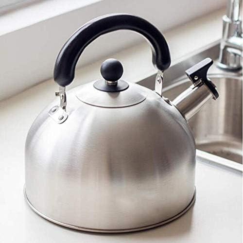 HSWJ Bouilloire pour cuisinière Bouilloire en Acier Inoxydable Whistling Kettle Ménage Teapot gaz Cuisinière à Induction Bouilloire Universal 6L Bouilloire en Acier Inoxydable
