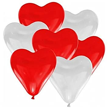 100 X Jungen Luftballons Herz Liebe Luftballons Latex Herzen