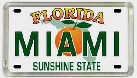 Bahamas License Plate Fridge Small Acrylic Collectors Souvenir Magnet 2 X 1.25