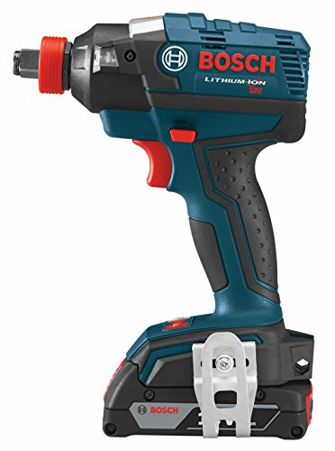 Bosch IDH182-02 18-Volt Brushless Socket Ready (1/4-Inch Hex, 1/2-Inch Square) Impact Driver with (2) 2.0Ah Batteries, Charger and Case