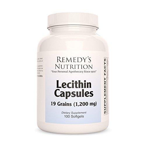 Lecithin Non-GMO MEGA STRENGTH 1,200 mg per tsp/2400 mg daily/36,000 mg per pkg by Remedys Nutrition