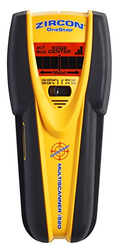 - Zircon MultiScanner i520- Center Finding Stud Finder with Metal and Live AC Wire Detection