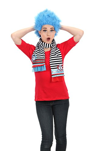 Thing 1 And Thing 2 Costume Accessories (elope Dr Seuss Thing 1&2 Striped Scarf)