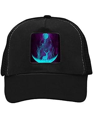 Unisex Deer and Moon Adjustable Classic Hiphop Hat Baseball Cap Snapback Dad Hat