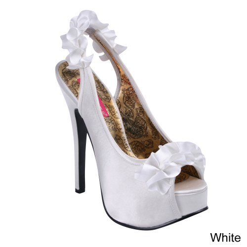 Pleaser Usa Shoes - Teeze-56 Wht Satin